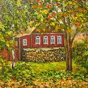 Картины и панно ручной работы. Ярмарка Мастеров - ручная работа Рябиновая осень. Handmade.