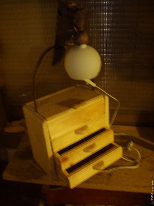 Освещение ручной работы. Ярмарка Мастеров - ручная работа. Купить Комодик с освещением. Handmade. Бежевый, массив дерева