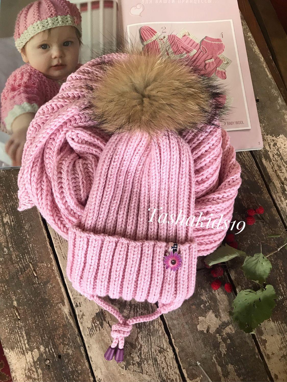 Комплект из мериноса Шапка шарф, Шапки, Тула, Фото №1