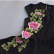 Материалы для творчества handmade. Livemaster - original item Unmatched 3D embroidery, applique, Rosita. Handmade.