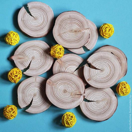 Кухня ручной работы. Ярмарка Мастеров - ручная работа. Купить 9 спилов дерева, лиственница, 8 см. Handmade. Бежевый