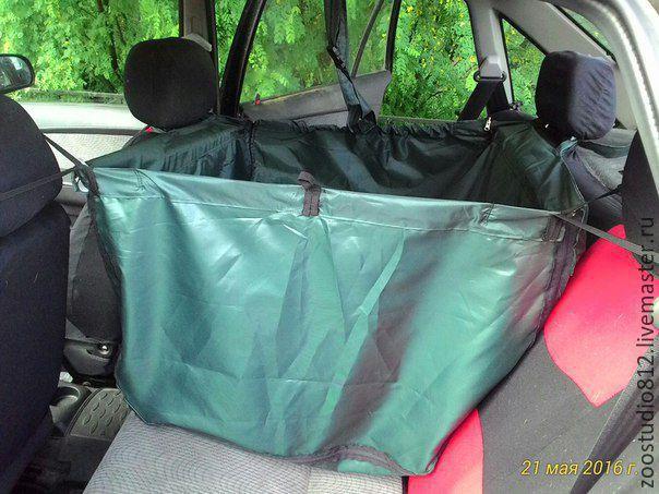 Автогамак  для перевозки собак в автомобиле . на 2/3 заднего сиденья, Гамак для питомца, Санкт-Петербург,  Фото №1
