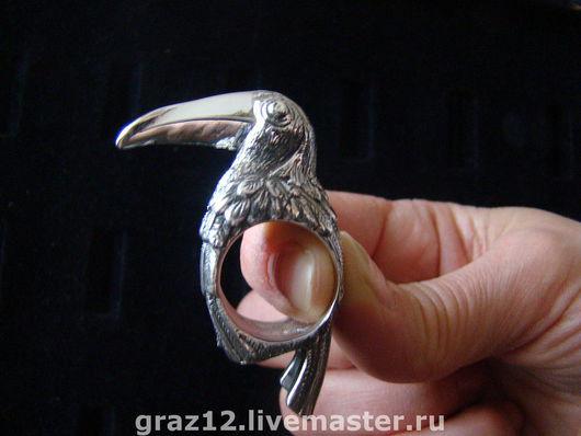 """Кольца ручной работы. Ярмарка Мастеров - ручная работа. Купить Кольцо """"Тукан"""". Handmade. Тукан серебро, кольцо"""
