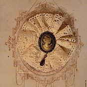 Украшения ручной работы. Ярмарка Мастеров - ручная работа Брошь в винтажном стиле, с камеей.. Handmade.