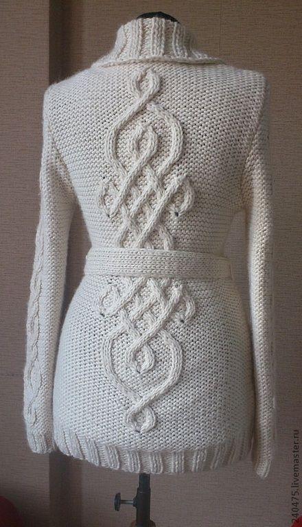 Кофты и свитера ручной работы. Ярмарка Мастеров - ручная работа. Купить кофта с кельтским узором. Handmade. Белый, женская одежда