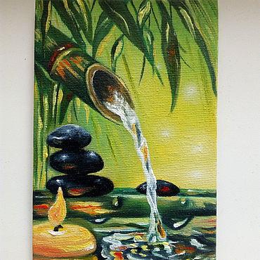 Картины и панно ручной работы. Ярмарка Мастеров - ручная работа Живая вода миниатюра. Handmade.
