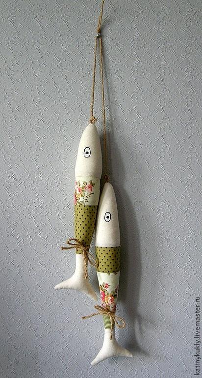 Игрушки животные, ручной работы. Ярмарка Мастеров - ручная работа. Купить Рыбы зеленые. Handmade. Оливковый, рыбки, интерьерная игрушка
