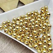 Материалы для творчества handmade. Livemaster - original item 20 PCs. 4 mm gold divider beads (2709-Z). Handmade.