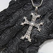 handmade. Livemaster - original item Cross male-female made of 925 sterling silver HH0074. Handmade.