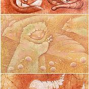 Открытки ручной работы. Ярмарка Мастеров - ручная работа Открытки. Теплые объятия. Коллекционный набор авторских открыток.. Handmade.