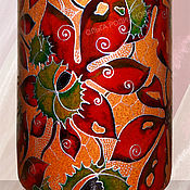 Посуда handmade. Livemaster - original item A bottle of Chestnuts, stained glass painting on ceramics. Handmade.