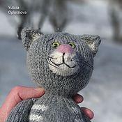 Мягкие игрушки ручной работы. Ярмарка Мастеров - ручная работа Вязаный кот Марсик. Handmade.