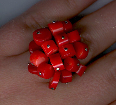 Rings handmade. Livemaster - handmade. Buy ring with corals.Ring, coral, coral, red, decoration, buy, order, earrings