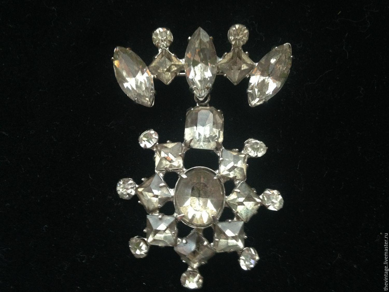 Винтаж: Геральдическая брошь из австрийских кристаллов, , Москва, Фото №1