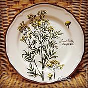 """Посуда ручной работы. Ярмарка Мастеров - ручная работа Тарелка """" Полевые цветы. Пижма"""". Handmade."""