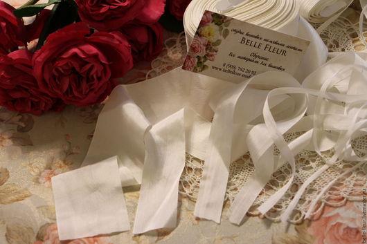 Набор шелковых лент `Творческий`. Только белые ленты!