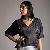 Одежда ручной работы. Ярмарка Мастеров - ручная работа Блуза - кимоно. 100% шелк. Италия. Handmade.