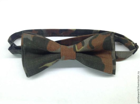 """Галстуки, бабочки ручной работы. Ярмарка Мастеров - ручная работа. Купить галстук бабочка  """"Милитари"""". Handmade. Хаки, камуфляж, аксессуары"""