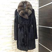 Одежда ручной работы. Ярмарка Мастеров - ручная работа Шуба норковая Blackglama с Соболем. Handmade.