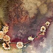Картины и панно handmade. Livemaster - original item Plum flowers watercolor painting. Handmade.