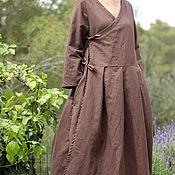 Одежда ручной работы. Ярмарка Мастеров - ручная работа Бохо платье - кардиган из льна. Handmade.