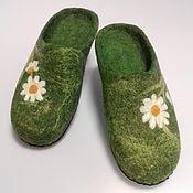 Обувь ручной работы handmade. Livemaster - original item Slippers: felted slipper daisies. Handmade.