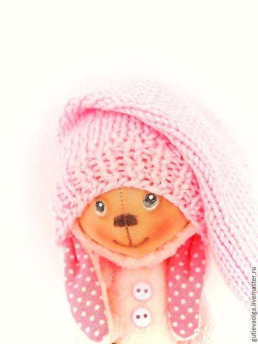 Игрушки животные, ручной работы. Ярмарка Мастеров - ручная работа. Купить Зефирный зайчик-мини. Handmade. Розовый, текстильная кукла