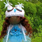 Тыквоголовка ручной работы. Ярмарка Мастеров - ручная работа Совушка. Текстильная куколка. Handmade.