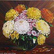 """Картины и панно ручной работы. Ярмарка Мастеров - ручная работа Картина маслом цветы""""Оттенки любви"""". Handmade."""