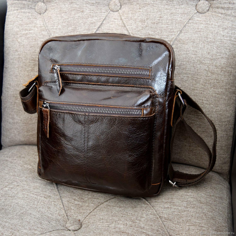Crossbody bag men's genuine leather Macarius, buy, Men\'s bag, Moscow,  Фото №1