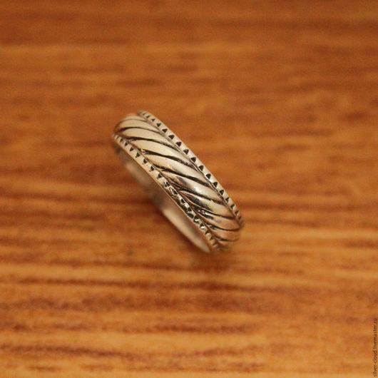 Кольца ручной работы. Ярмарка Мастеров - ручная работа. Купить Серебряное кольцо Поясок, серебро 925. Handmade. Серебряный