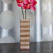 Для дома и интерьера ручной работы. Ярмарка Мастеров - ручная работа Ваза интерьерная в полоску. Handmade.