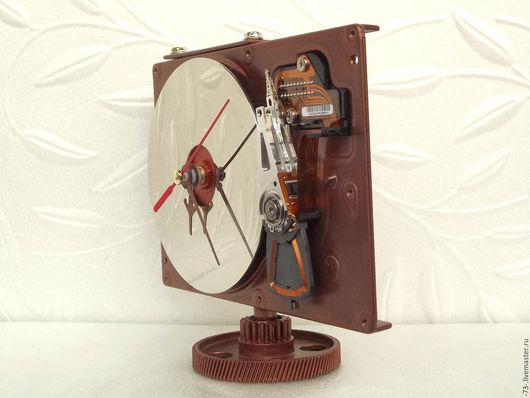 Часы для дома ручной работы. Ярмарка Мастеров - ручная работа. Купить Настольные часы из жесткого диска. Cooper HDD clock. Handmade.