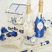 Свадебный салон ручной работы. Ярмарка Мастеров - ручная работа Свадебный набор ``Ультрамарин``. Handmade.