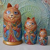 """Матрешки ручной работы. Ярмарка Мастеров - ручная работа Матрешка-кот """"Царь, просто Царь"""", матрешка с росписью. Handmade."""