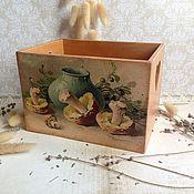 Для дома и интерьера ручной работы. Ярмарка Мастеров - ручная работа Грибная пора - короб для кухни. Handmade.