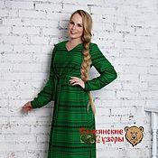 """Одежда ручной работы. Ярмарка Мастеров - ручная работа Платье """"Велеслава"""" зеленое. Handmade."""