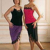 Одежда handmade. Livemaster - original item Straight skirt with Lace. Handmade.