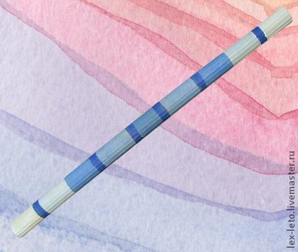 """Ударные инструменты ручной работы. Ярмарка Мастеров - ручная работа. Купить Синяя флейта дождя """"Морской дождик"""". Handmade."""