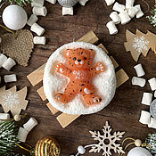 Косметика ручной работы handmade. Livemaster - original item Gift soap Tiger Cub snow angel. Handmade.