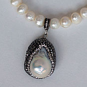 Украшения handmade. Livemaster - original item Necklace and earrings with natural pearls. Handmade.