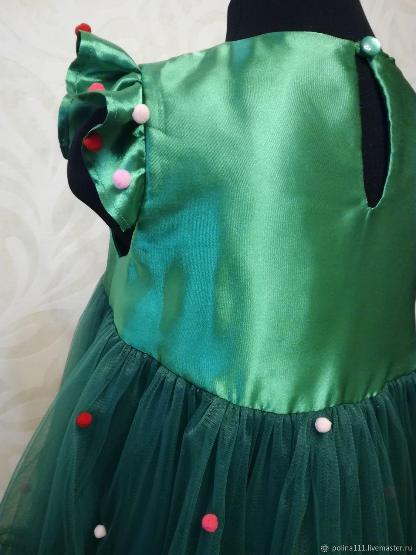 72a02b3a360 Елка. Детские карнавальные костюмы ручной работы. Платье ёлочка 104 р-р.