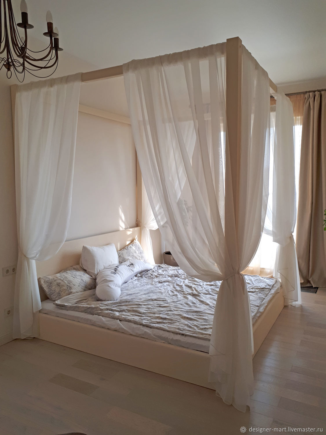 The four poster wooden bed, Curtains1, Moscow,  Фото №1