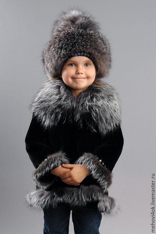 Одежда для девочек, ручной работы. Ярмарка Мастеров - ручная работа. Купить Меховая шубка для девочки, шуба из меха, чернобурка, мутон. Handmade.