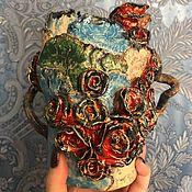 Вазы ручной работы. Ярмарка Мастеров - ручная работа Керамическая ваза Пэчворк. Handmade.