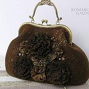handmade. Livemaster - original item Women`s felted bag with clasp