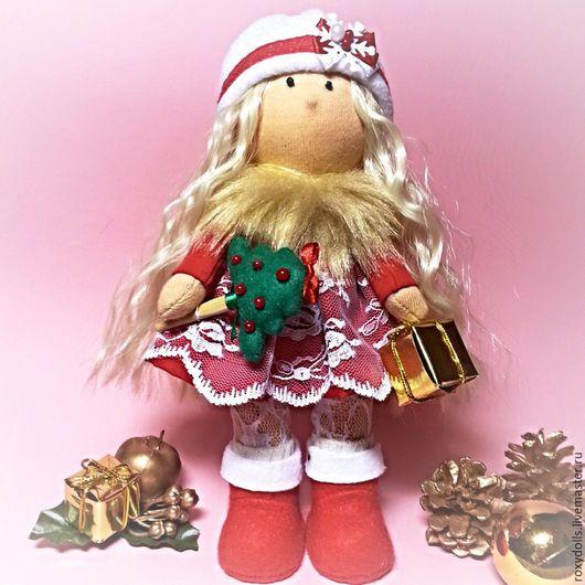Куклы тыквоголовки ручной работы. Ярмарка Мастеров - ручная работа. Купить Интерьерная кукла - снегурочка. Handmade. Подарок 2016, зима