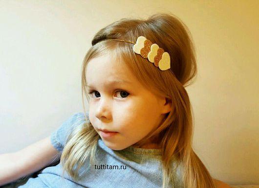 Детская бижутерия ручной работы. Ярмарка Мастеров - ручная работа. Купить Заколка/повязка для волос. Handmade. Комбинированный, аксессуары