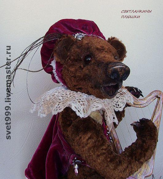 """Мишки Тедди ручной работы. Ярмарка Мастеров - ручная работа. Купить плюшевый медведик Марко """"Серенада в лиловых тонах"""". Handmade."""