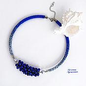 Украшения handmade. Livemaster - original item Pearl necklace made of natural pearls and beads Classic blue. Handmade.